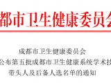 成飞医院骨科主任尹志良、中医科主任李锡春分别被评选为第五批成都市卫生健康系统学术技术带头人和学术技术带头人后备人选
