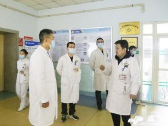 春节假期后第一个工作日成飞医院党政领导率队向全院各科室拜年
